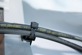 uv-resistant Cable clips used in solar plants