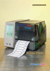 Industrial identification with TT420+ thermal transfer printer link to brochure