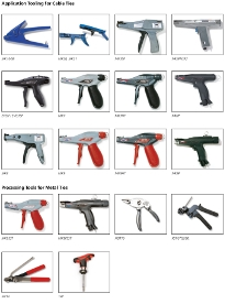 Overview cable tie guns
