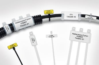 Cable identification for pipes, cables and wires of any size.