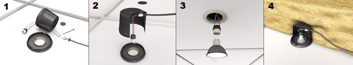 Downlight covers SpotClip-Box installation