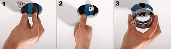 Downlight covers SpotClip-II installation