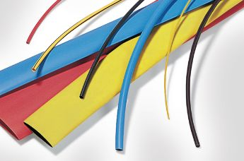 Coloured heat shrink tubing