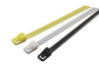 The reusable ORF cable ties are designed for easy release with one-hand.