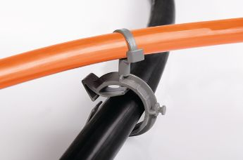 Cable clip for pipes provide perfect cable routing flexibility.