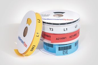 TCGT: coloured heat shrink wire labels for excellent print performance.