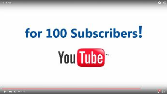 100 subscribers on Youtube! THANK YOU