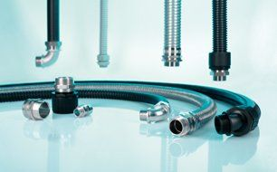 HelaGuard cable protection with metallic and non-metallic flexible conduits and fittings