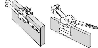 Cable clips: CAD-Data for constructors and fitters