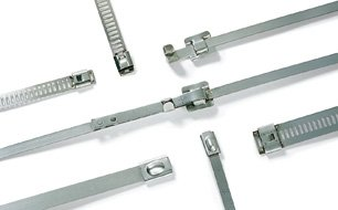 Corrosion-resistant MBT cable ties and P mount bases made of stainless steel