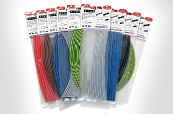 coloured pre-cutted heat shrink tubing HIS-3 Bag in blister bags