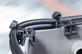 Cable clips for safe cable routing