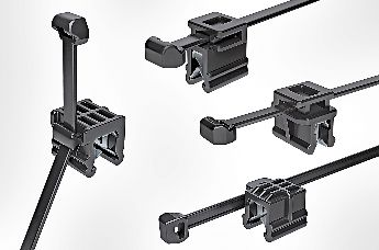 Cable clips for edges and different routing directions