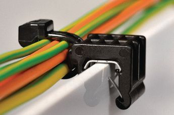 cable clips for edges, parallel to the direction of the edge