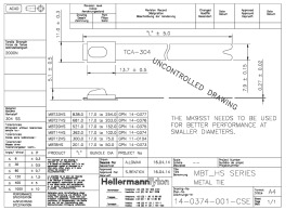 HellermannTyton Kabelbinder 7,9x362 edelstahl MBT14HS