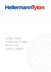 Crimp Tools, Hydraulic Crimp Tools and Cable Cutters