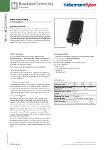 Fibre Facade Enclosure (FFE) - Connectorised with LC or SC Adaptors