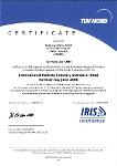 International Railway Industry Standard – IRIS-Zertifizierung