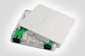 Fibre Wall Outlet with SC-APC adaptor.