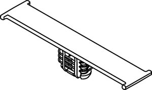 Bundling clip with oval fir tree provides an uncomplicated method for fastening bundles, hoses, or pipes.