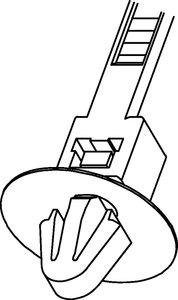 Der Teller am Kopf des T50SOSSFT6,5E schützt die Bohrung vor Schmutz.