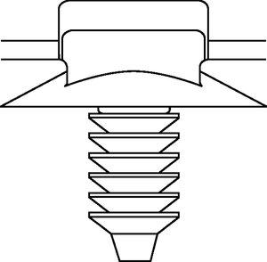 Lanières assemblées à pied sapin adaptées aux trous débouchants.