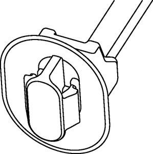 1-teiliger Befestigungsbinder T50SOSKSFT62x122PT1,7-2,3 für Ovallöcher.