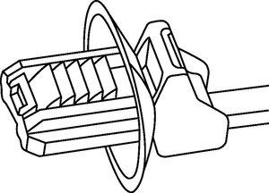 适用于椭圆孔的 DOP 系列具有防扭保护功能。