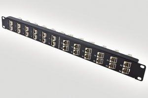 1U Shielded Category 6A Patch Panel.