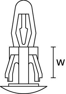 ECI15.9 espaçador de circuito impresso.