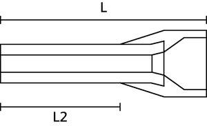 Terminal pino tubular (ilhós) duplo isolado.