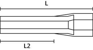 Terminal pino tubular (ilhós) simples isolado.