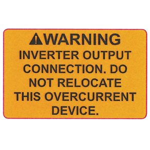 Warning label is supplied with an aggressive adhesive to ensure long life.