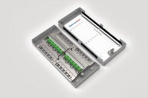 Modular Zone Termination Box loaded with 12x LC Duplex SM APC