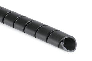 SBPEFR - Black flame retardant PE Spiral Wrap.
