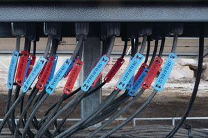 Cable marker for easy marking in tough environments.