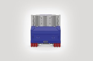 Unloaded Integrated Routing Module suitable for 6 SE or 12 SC Splice Trays.