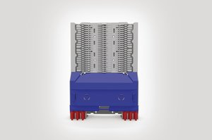 Unloaded Integrated Routing Module suitable for 12 SE or 24 SC Splice Trays.