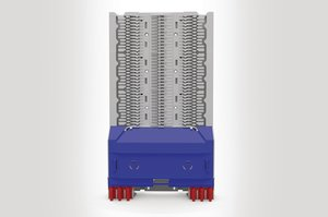 Unloaded Integrated Routing Module suitable for 18 SE or 36 SC Splice Trays.