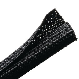 Lateral split allows the braided sleeving to open up to accommodate a variety of bundling requirements.
