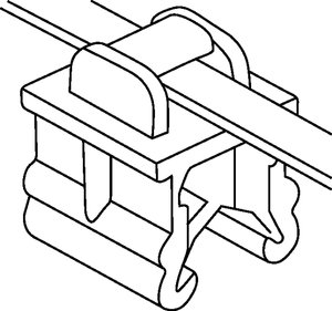 Pre-assembled 2-piece fixing tie with EdgeClip.