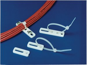 Cable tie anchor mounts are installed quick and easy by securing a single screw.