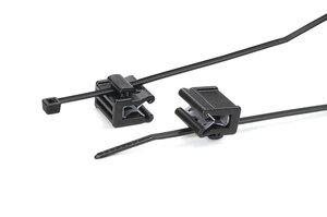 2-teiliger Befestigungsbinder für Kanten 1-3 mm, seitliche Befestigung.