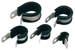 P-Clips (Alu) with Rubber Insert for vibration resistance