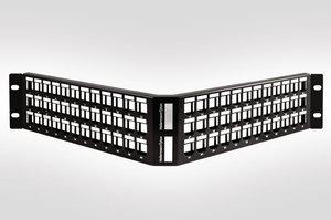 2U 72 Port Angled Panel