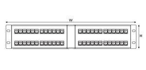 2U 48 Port Universal Angled Panel