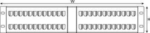 2U 48 Port Angled Panel