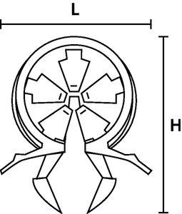 Harness clip OHC8 voor voorbewerking op kabelbomen.