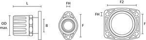 HelaGuard HGL-SFL Straight Swivel Flange with conduit seal, IP68.