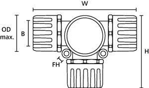 HelaGuard HG-T, racor/conector en T, IP66.